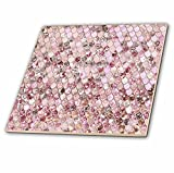 3dRose ct_275454_2 Image of Small Rose Gold Shiny Luxury Elegant Mermaid Scales Glitter Ceramic Tiles,
