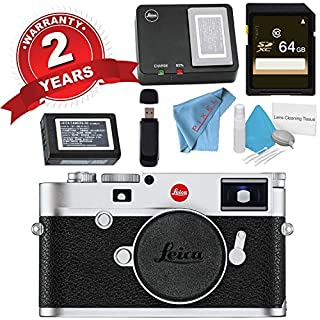 Leica M10 Digital Rangefinder Camera (Silver) + 64GB SDXC Card + Card Reader + Deluxe Cleaning Kit + Microfiber Cloth Bundle