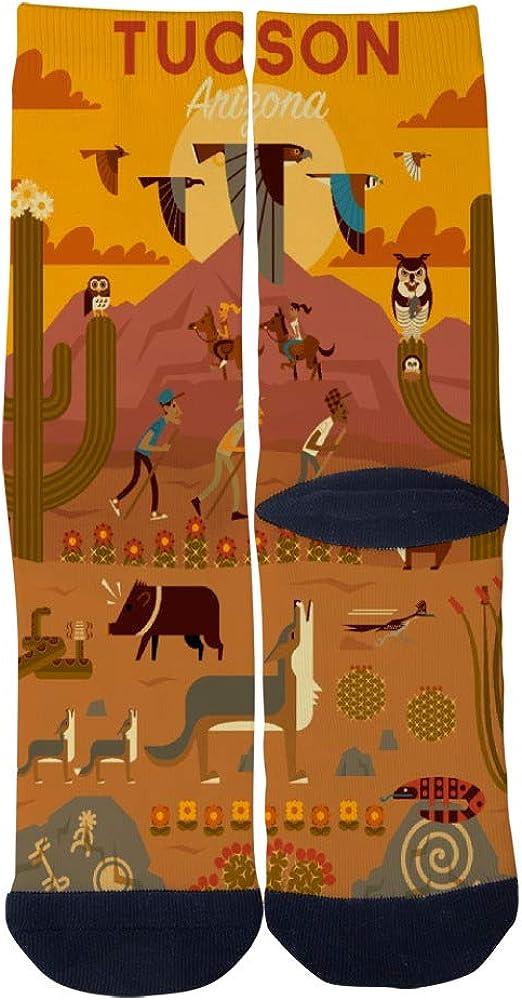 Tucson Fairy National Memorial Park Arizona USA Socks Mens Womens Casual Socks Custom Creative Crew Socks