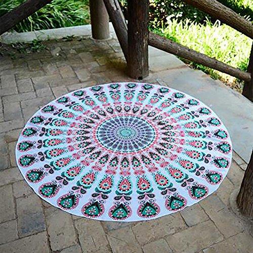 HXQ Beach Towel Indian Mandala Round Beach Throw Boho Gypsy Tablecloth Beach Towel Picnic Yoga Mats , c05# - Toalla Para Gimnasio