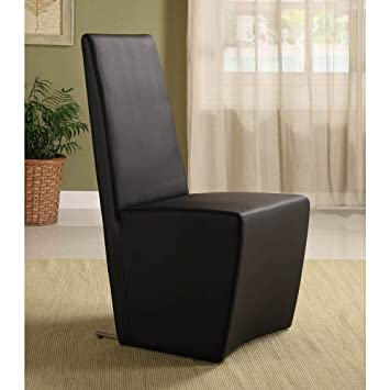 Boston High Back Modern Dining Chair   Brown