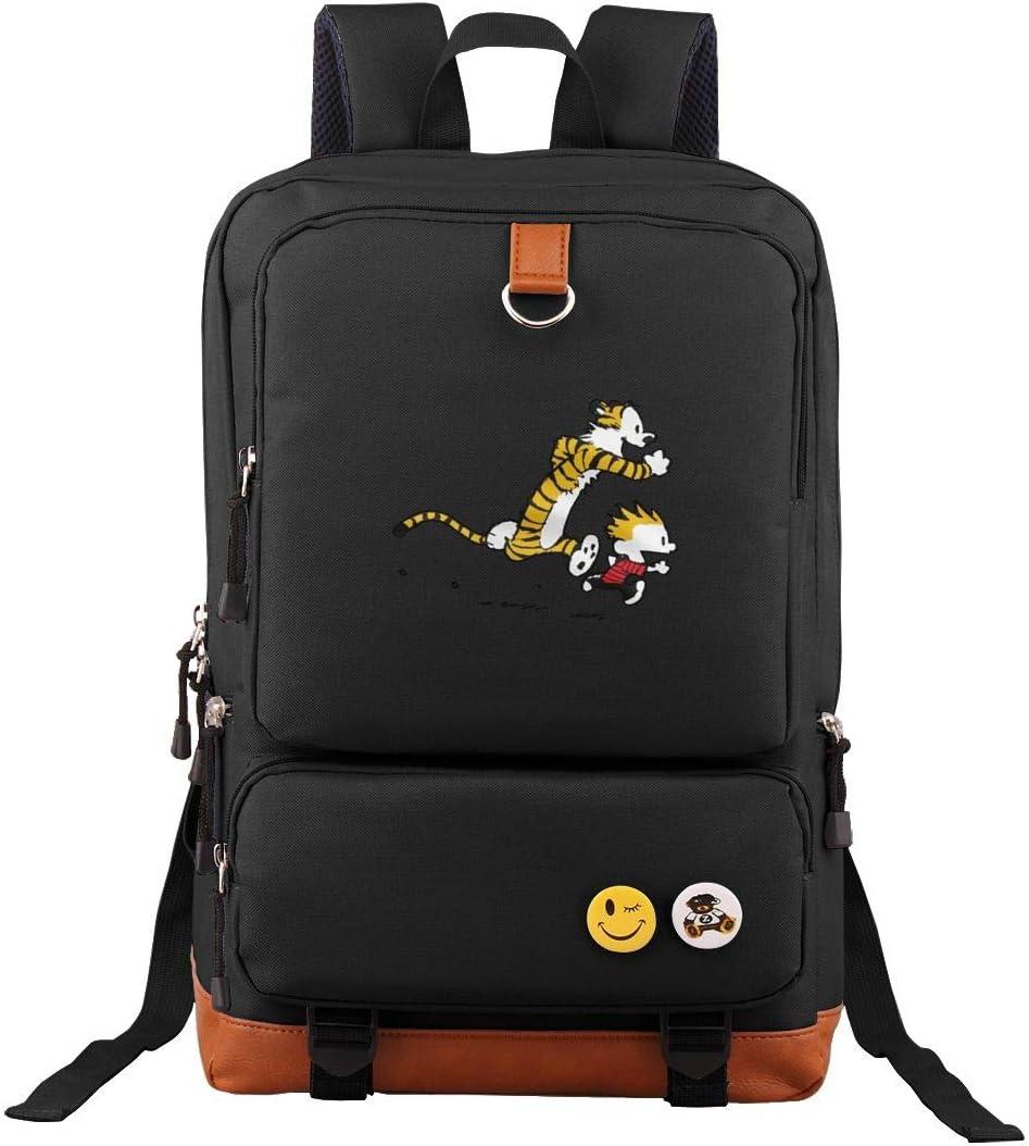 Travel Backpack Calvin And Hobbes Tiger Laptop Bag Vintage Bookbag School Daypack