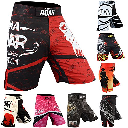 Roar MMA Training Boxing Shorts Cage Fight Grappling Muay Thai Mixed Martial Arts Nogi (Lion, XLarge) ()