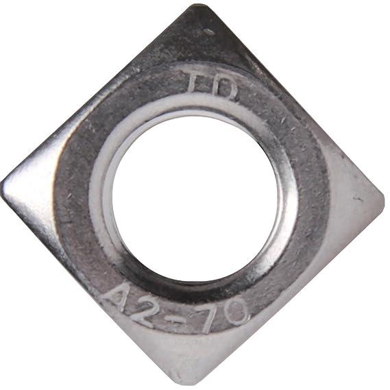 10/pieza cuadrado tuercas M5/hasta M16/DIN 557/Acero Inoxidable A2