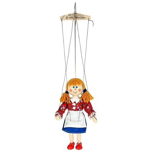 ABA Gretel Marionnette Jouet en bois 20cm (Multicolore)