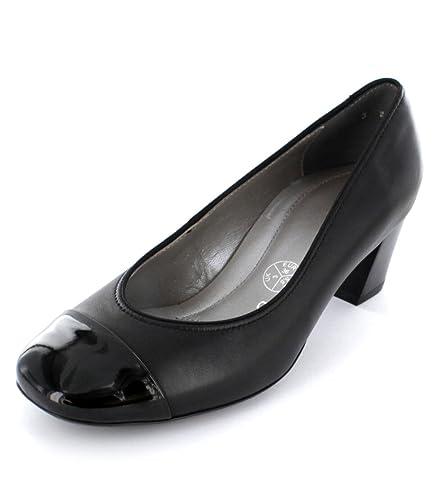 d2c90a2c731d ara 36608-01 Black Patent Toe Cap Court Shoe 5.5  Amazon.co.uk ...