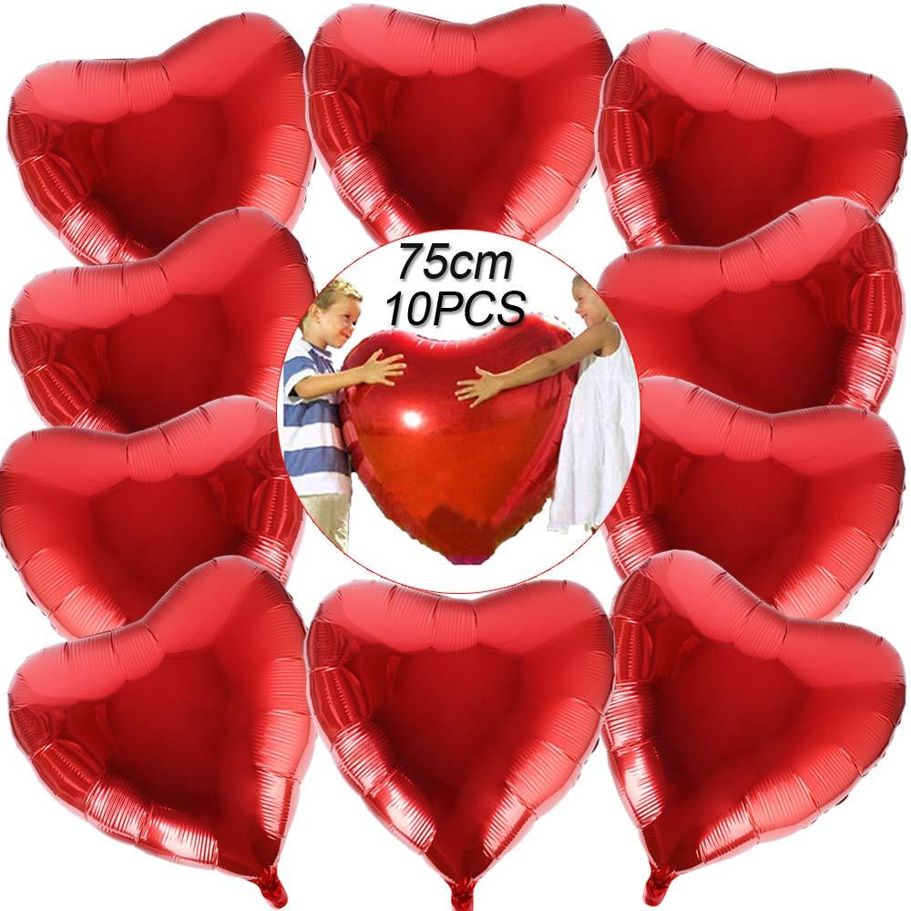 globos forma corazón