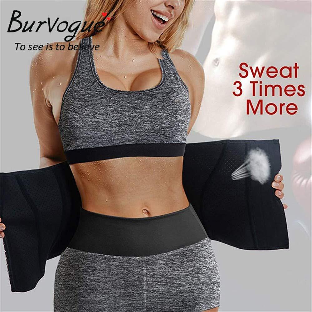 Ladies Latex Waist Trainer Corsets Sports Waist Body Shaping Weight Loss Sweat Black
