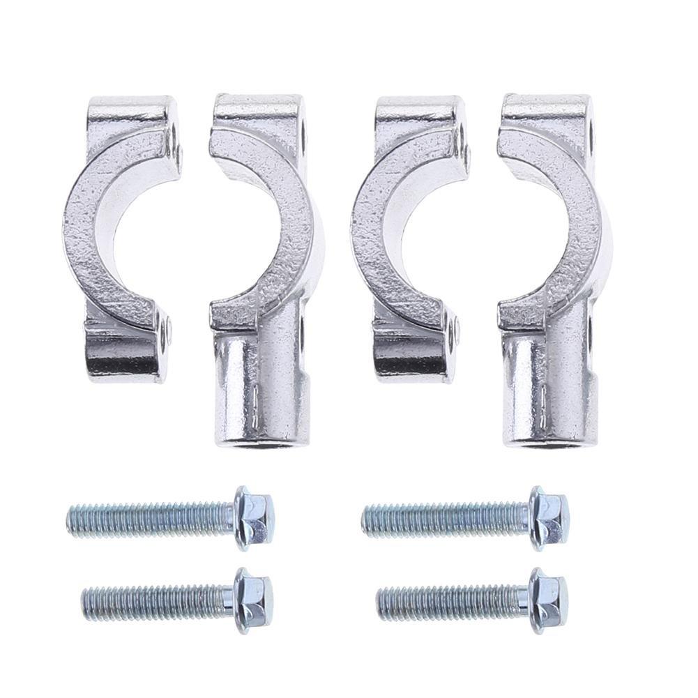 bianco Vanpower 2PCS 25/mm moto manubrio retrovisore montaggio supporti in metallo