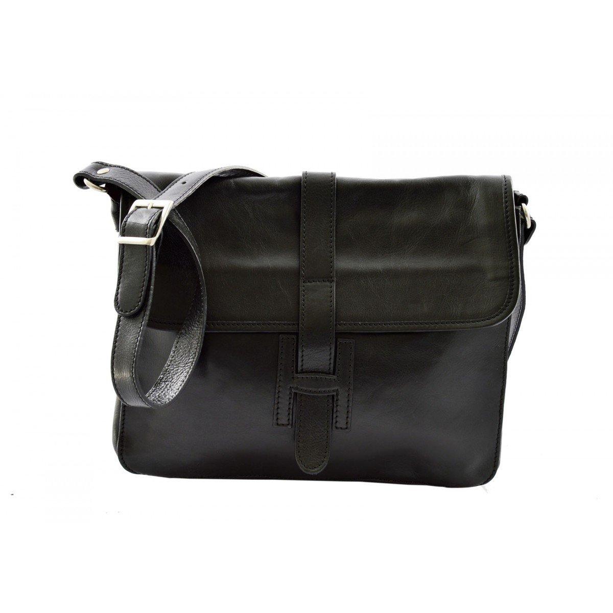 Dream Leather Bags Made in Italy Genuine Leather メンズ 26-1 US サイズ: 1 M US カラー: ブラック B074M9BXTD