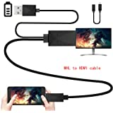 Efanr Micro USB to HDMI Media HDTV Adapter 6.5ft Cable 11 Pin & 5 Pin for Samsung Galaxy S2 S3 S4 S5 Note 2 3 4 8 Note Edge HTC M8 HTC One LG Sony Android Cell Phone 1080P Converter
