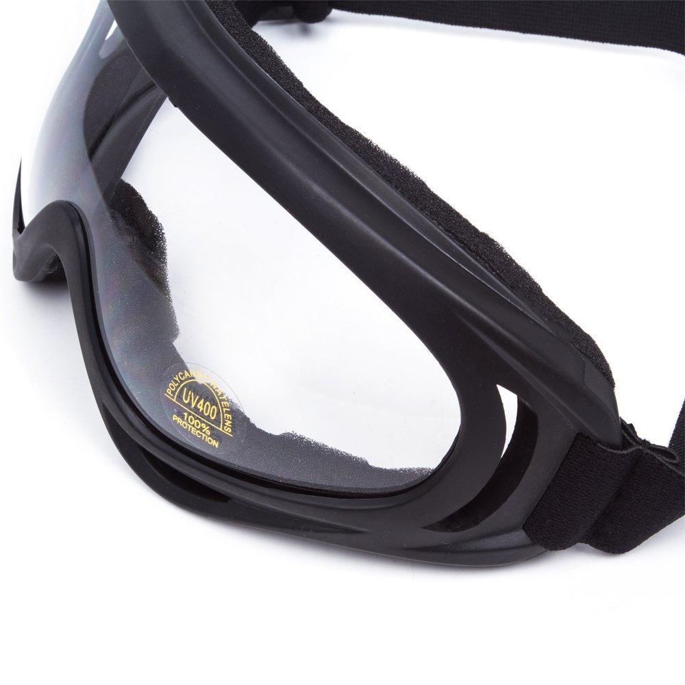b9b6eaeb4f25cd Lunettes de Protection Masque de Visage Incassable Anti-UV Coupe-Vent Anti-Poussière  Anti-Sable Anti-Brouillard pour Activités Extérieurs Vélo Moto ...