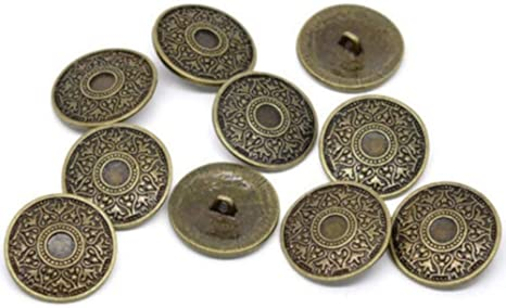 Metal Buttons Pack of 10 with Celtic Pattern Antique Bronze Diameter Approx. 25 mm hole size: 2.6 mm.: Amazon.de: Küche & Haushalt