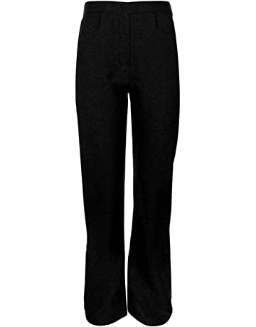 Was £9.99 now £5.99 SCHOOL GIRLS UNIFORM STRETCHY TROUSERS NAVY 15-16yrs