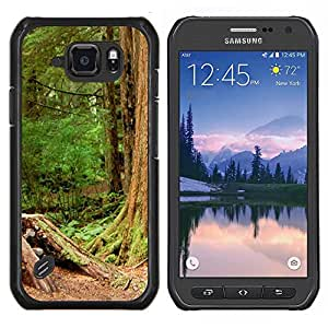 For Samsung Galaxy S6Active Active G890A Case , Planta Naturaleza Forrest Flor 110- Diseño Patrón Teléfono Caso Cubierta Case Bumper Duro Protección Case Cover Funda