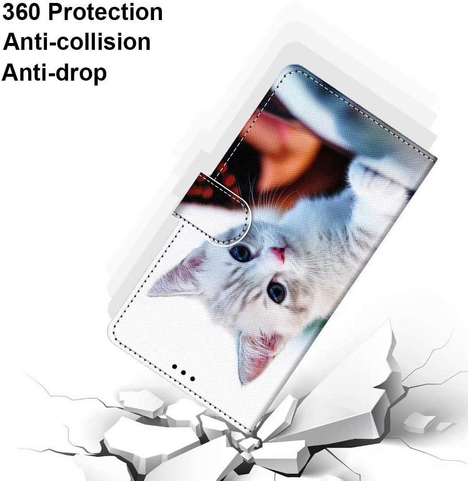 Miagon Flip PU Leder Schutzh/ülle f/ür Samsung Galaxy S6,Bunt Muster H/ülle Brieftasche Case Cover St/änder mit Kartenf/ächer Trageschlaufe,Schnee Hund