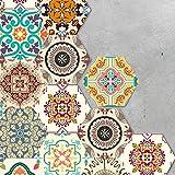 tile kitchen floor VANCORE Hexagon Floor Tile Stickers Peel and Stick Tile Backsplash Stickers for Kitchen Bathroom Waterproof DIY Floor Tiles 4.53x7.87 10 Pcs/set