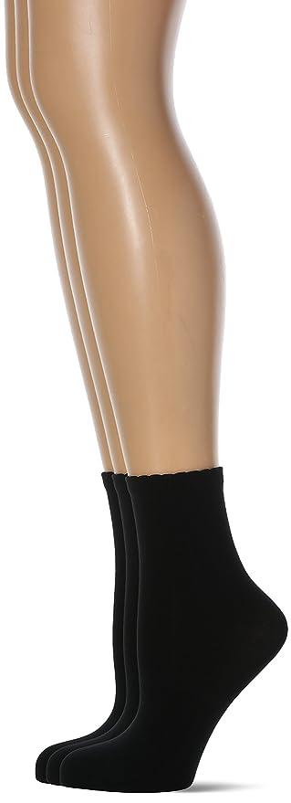 Womens Calzini Style Microfibra Socks, Nero (0hz/Noir Cd0hz), Einheitsgröße pack of 3 Lovable