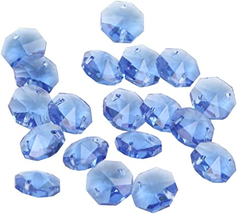 Crystal 14mm Octagon Beads Sun Cling Turquoise Pack of 100