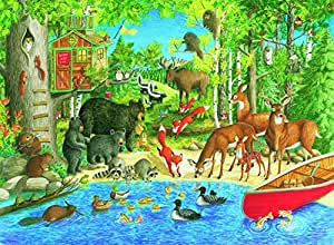 Ravensburger Woodland Friends Puzzle 200pc,Children's Puzzles