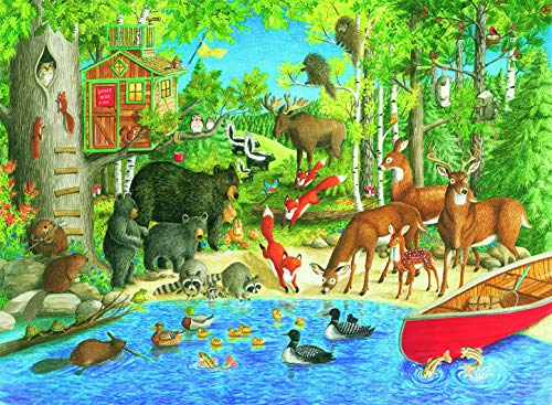 Ravensburger Word Puzzle - Ravensburger Woodland Friends 200 Piece Jigsaw Puzzle for Kids - Every Piece is Unique, Pieces Fit Together Perfectly