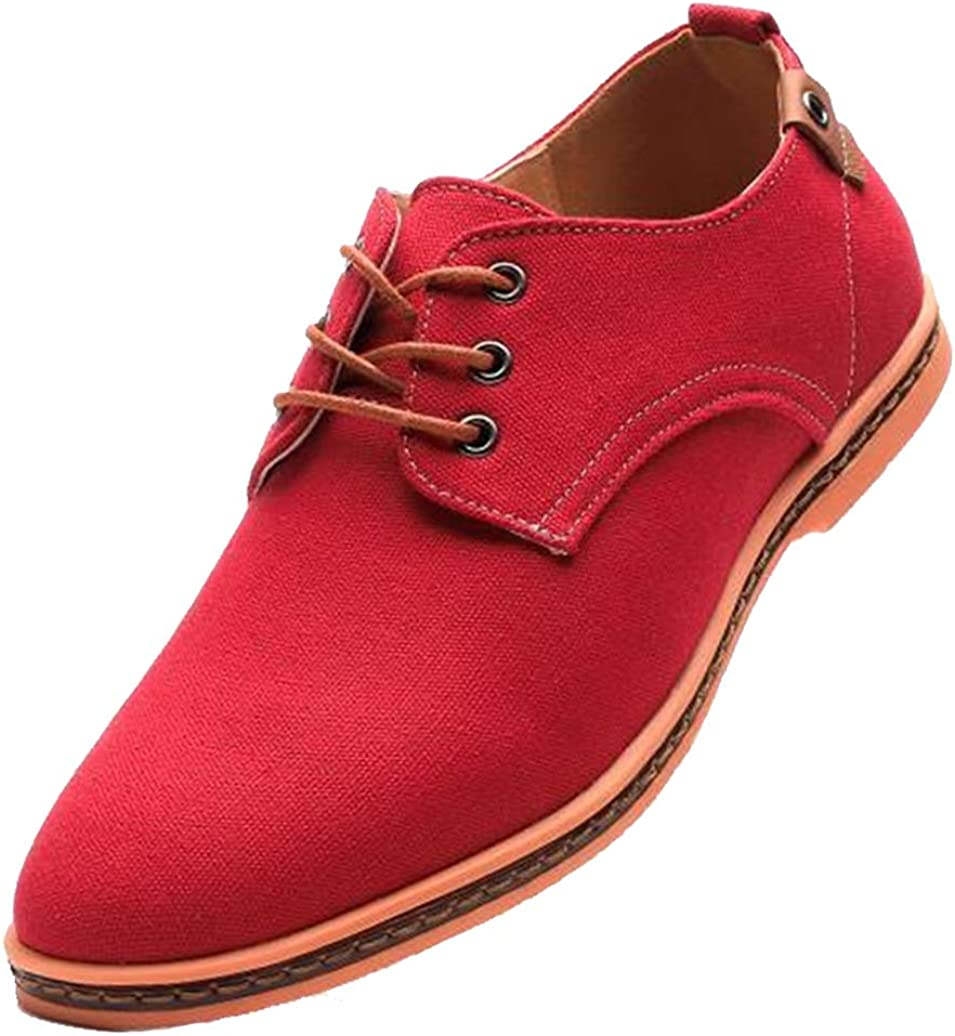 WUIWUIYU Mens Lace-Up Dress Leather Oxfords Fashion Suede Shoes