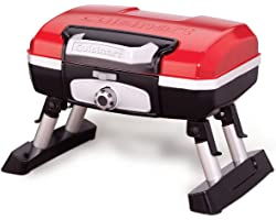 Cuisinart CGG-180T Petit Gourmet Portable Tabletop Propane Gas Grill, Red