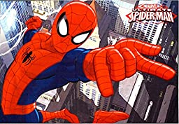 Marvel Spiderman Rug HD Digital Kids Bedding Wall Decals Room Decor Area Rugs 5x7, X Large, Multicolor