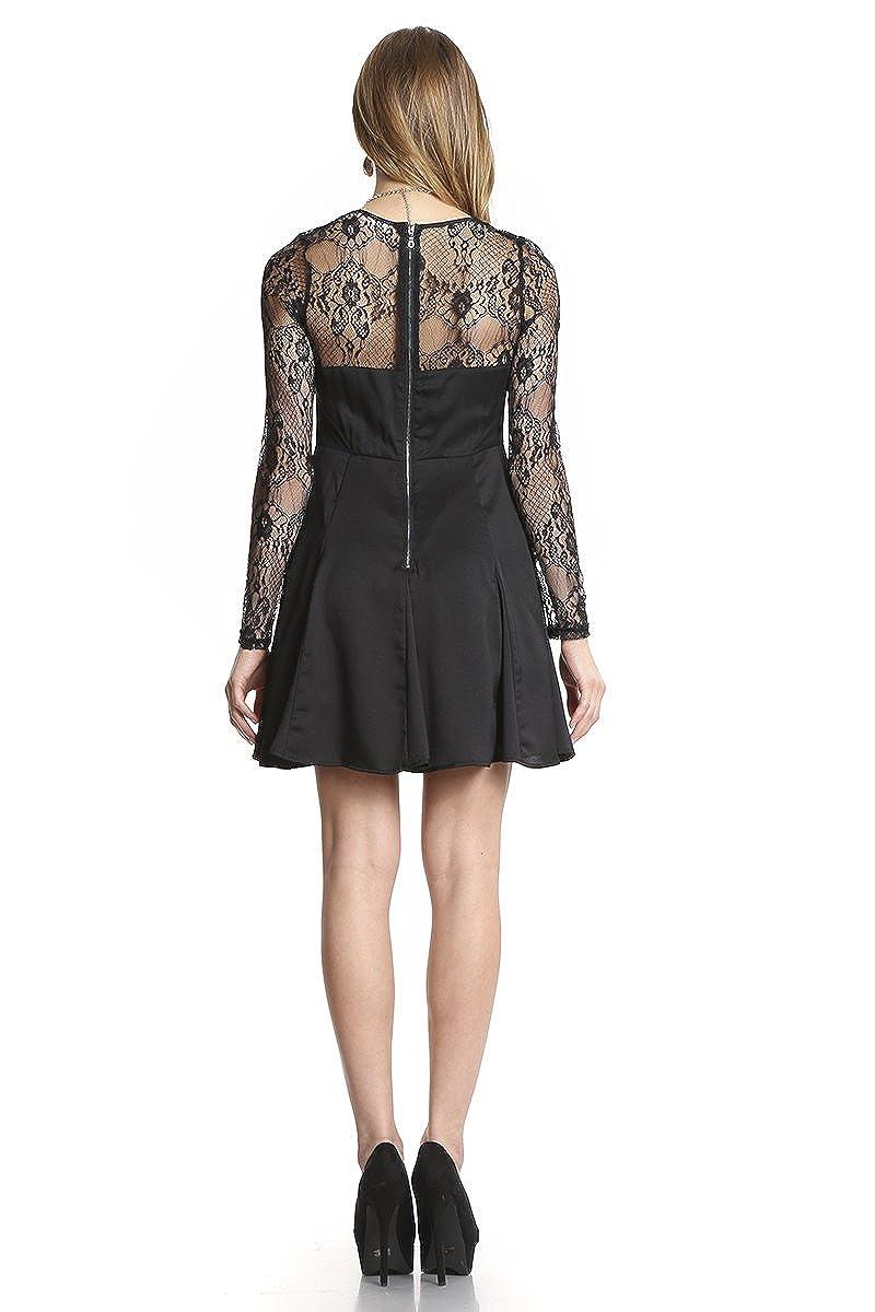 Love Me Not Black Lace Dress