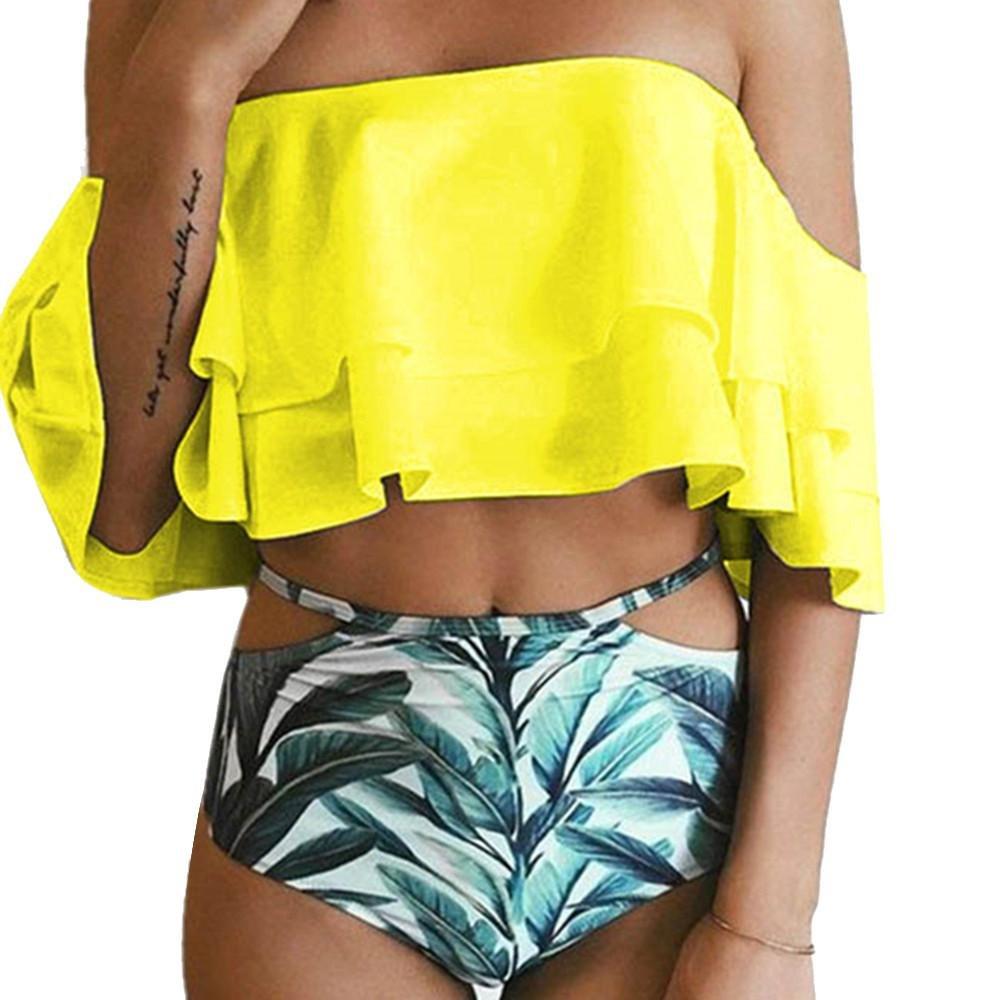 Bikini Trajes de baño Mujer, Conjunto de Bikini Impreso para Mujer Push-Up Acolchado Bañador de Baño Traje de Baño 2018 ❤️ Manadlian