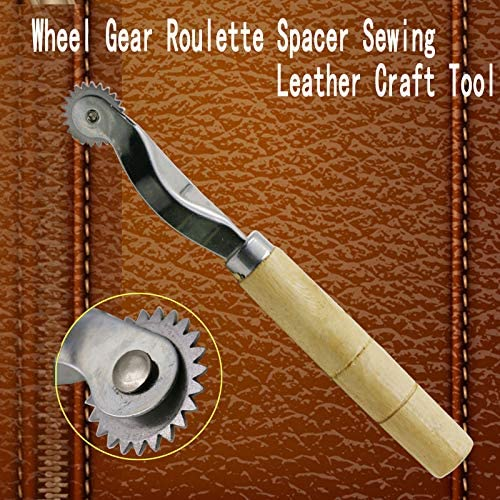 Leathercraft Leather craft Over stitch Wheel Roulette Spacer Sewing Tool