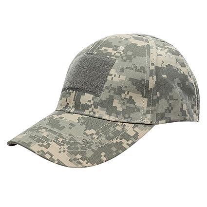 Oeak Unisex Adjustable Baseball Cap Outdoor Operator Tactical Hat Hook and  Loop Fasteners ACU d43b4aaaefe