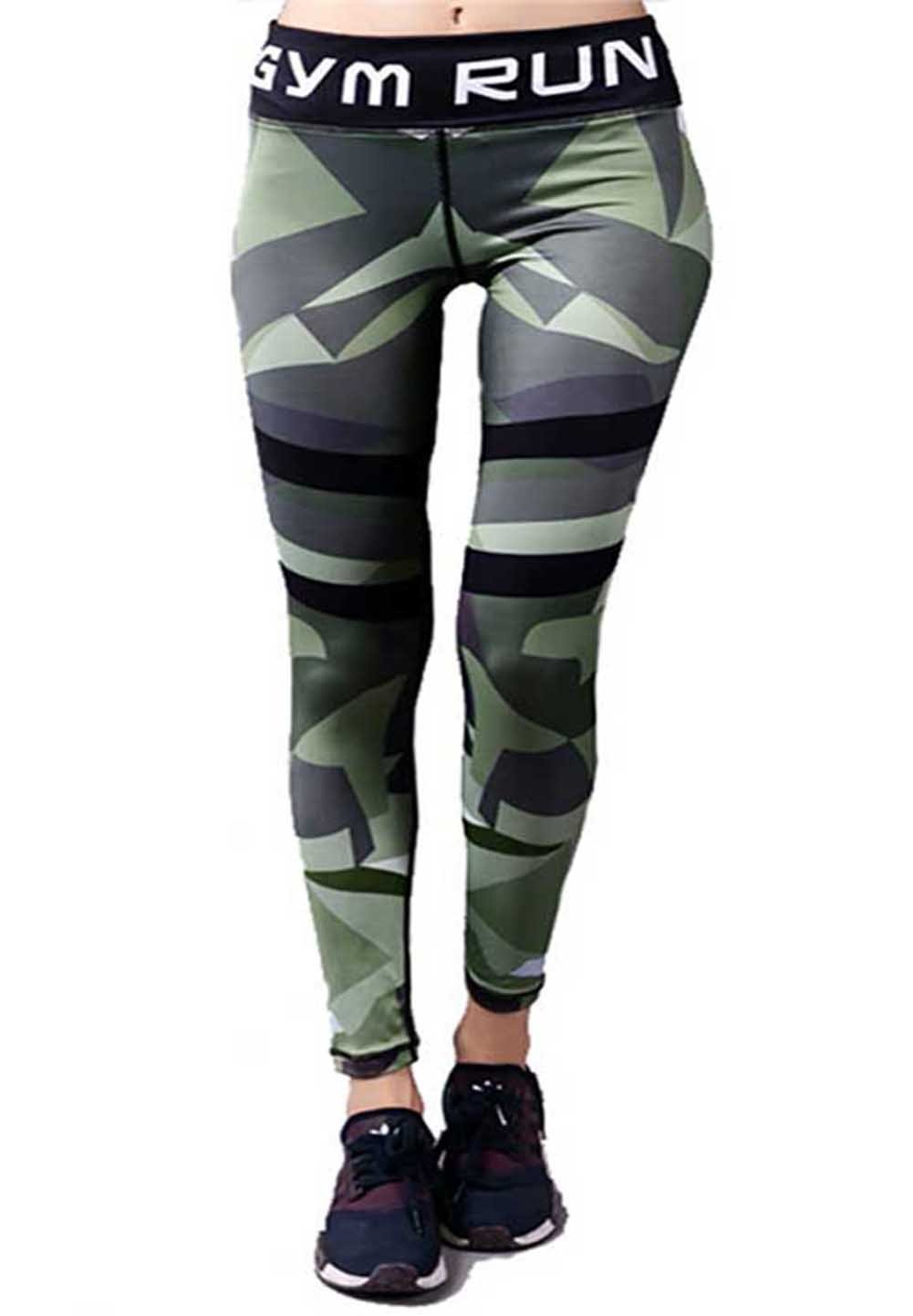 camgo Women's Yoga Pants Capris Leggings for Fitness Workout Gym Sports (S, Camouflage)