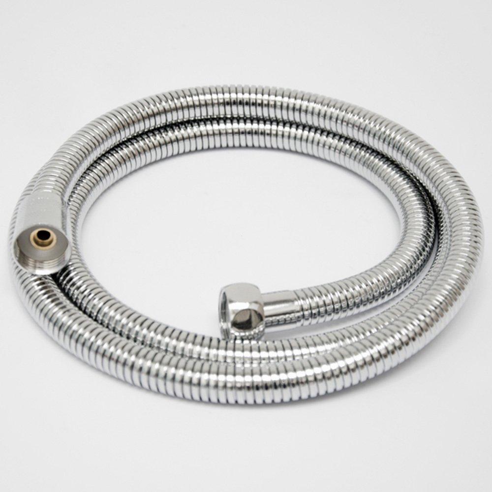 eyepower manguera de ducha de 2m de longitud resistente a dobleces de metal plateado