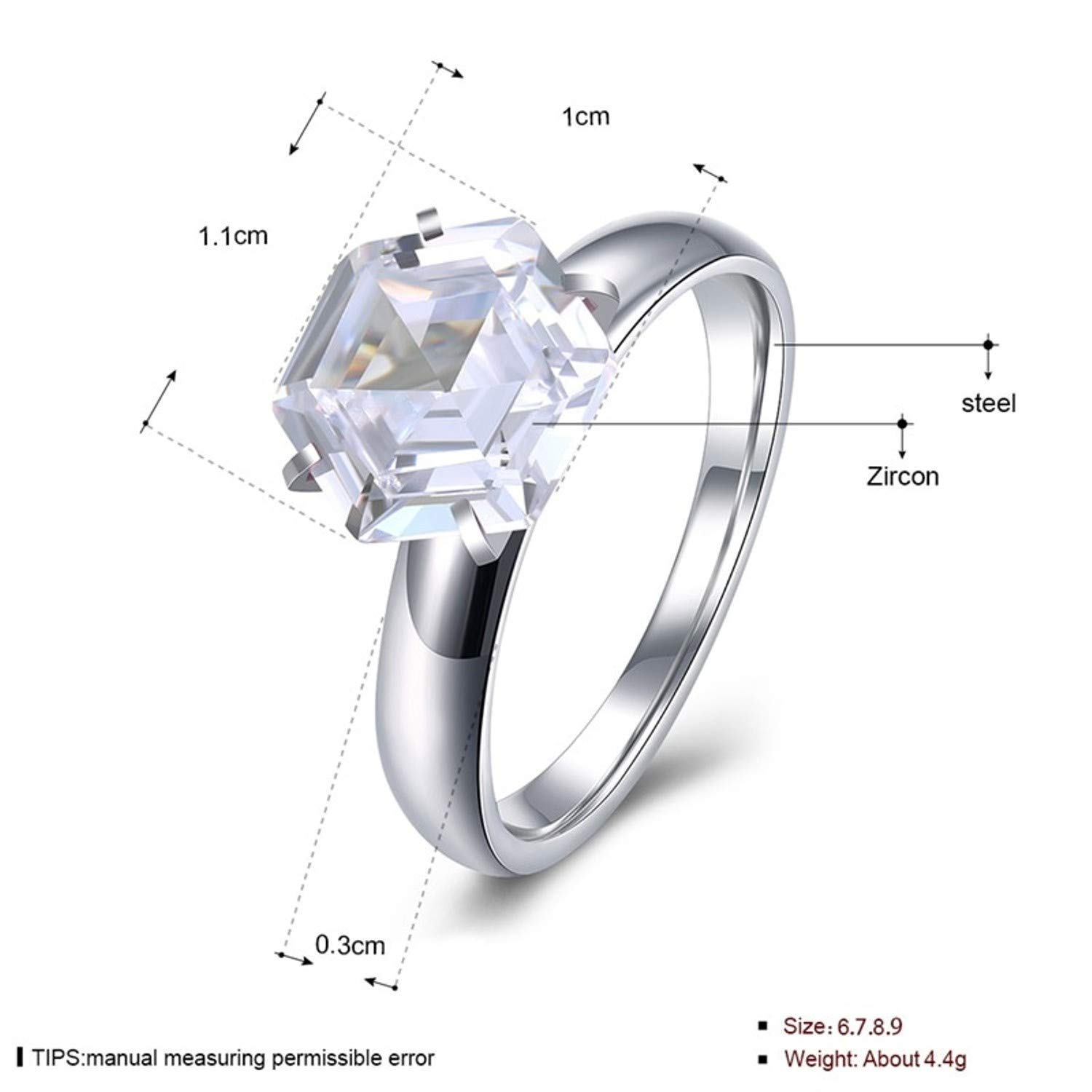 2369e977f3d23 Buy Ruvee Will You Be Mine Forever Big Rock Platinum Plated ...