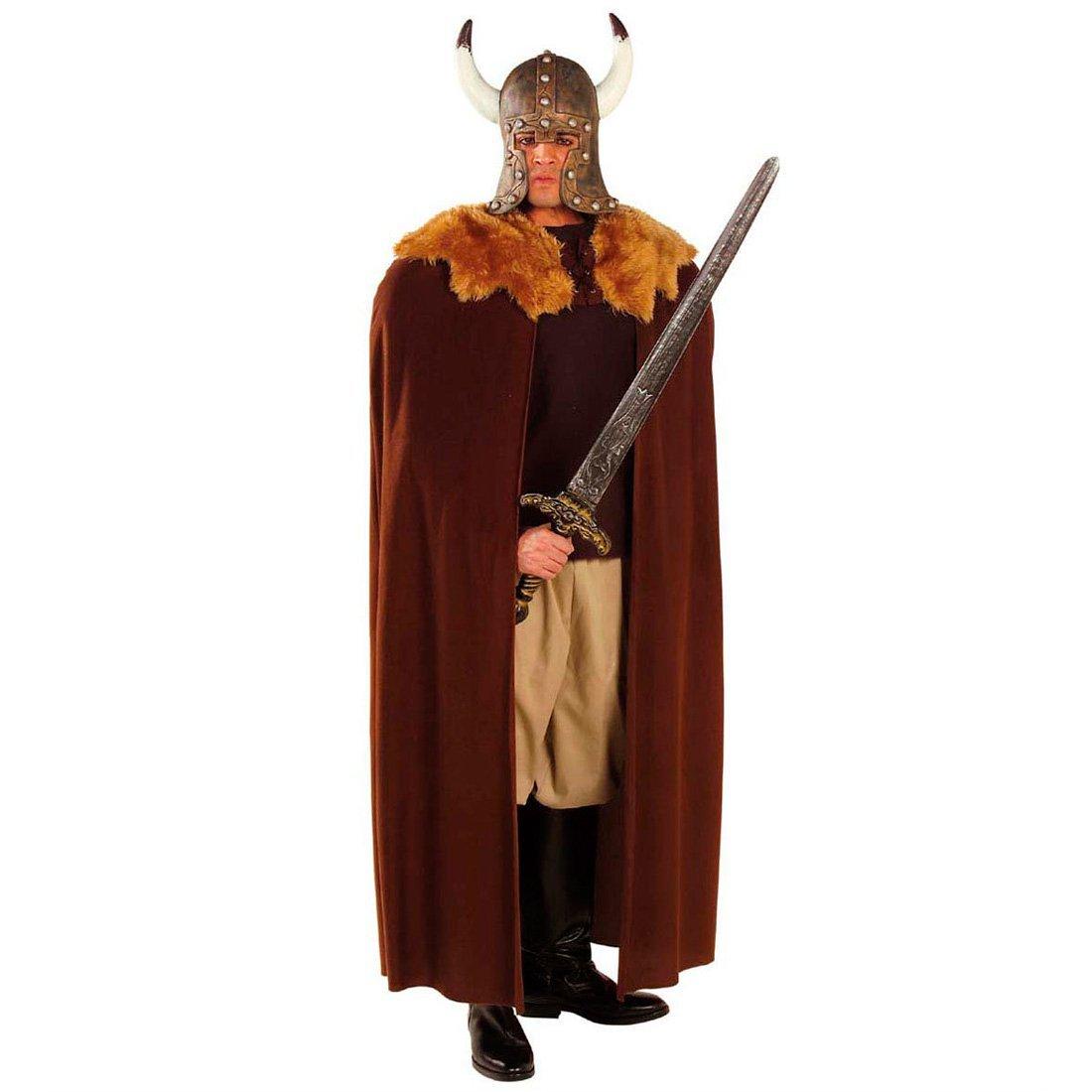 Abrigo de vikingo con pelo capa traje medieval: Amazon.es ...
