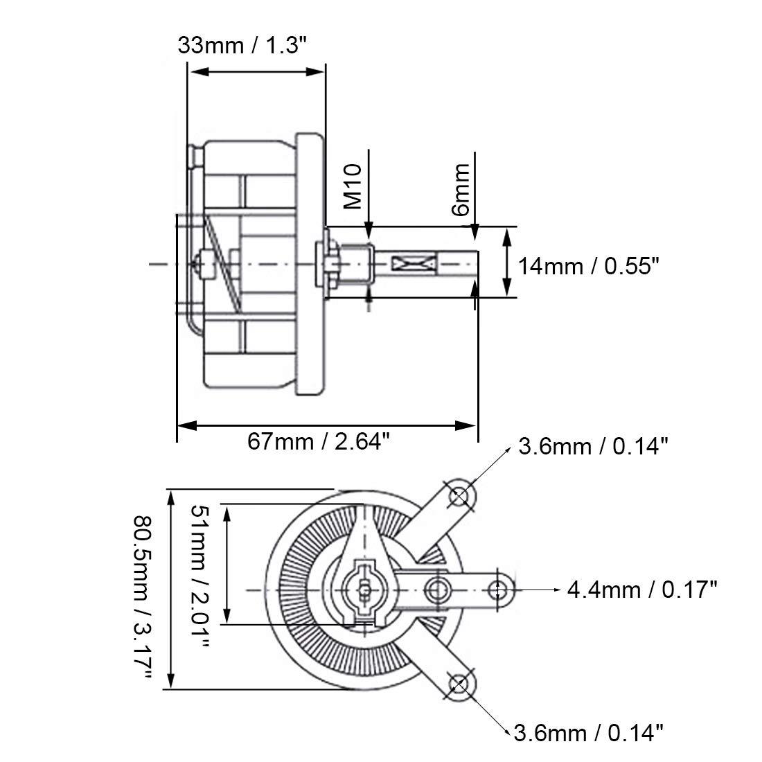 100w 100 Ohm Ceramic Wirewound Potentiometer Rotary Resistor Rheostat Wiring Diagram