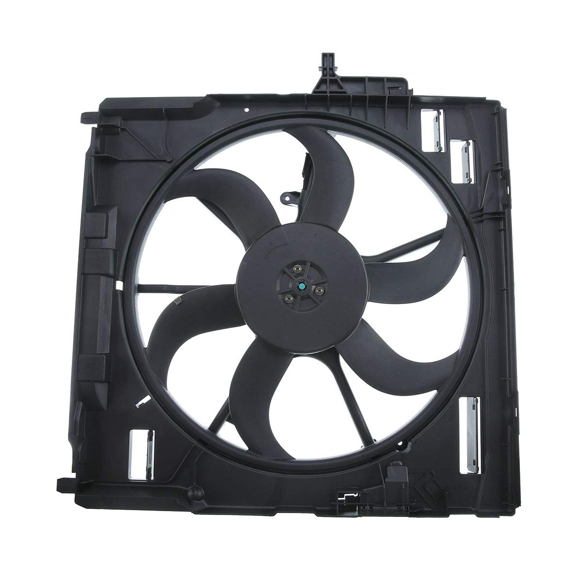 A-Premium Radiator Engine Cooling Fan Assembly with Motor for BMW X5 2007-2010