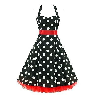 Rockabilly Retro Vintage Kleid shoperama 50er Chloe 50' Polka Jahre yv80wOnmN