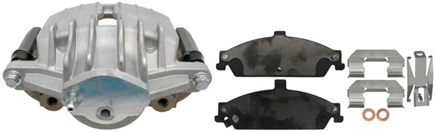 ACDelco 18R1213 Professional Front Driver Side Disc Brake Caliper Assembly with Pads (Loaded), Remanufactured