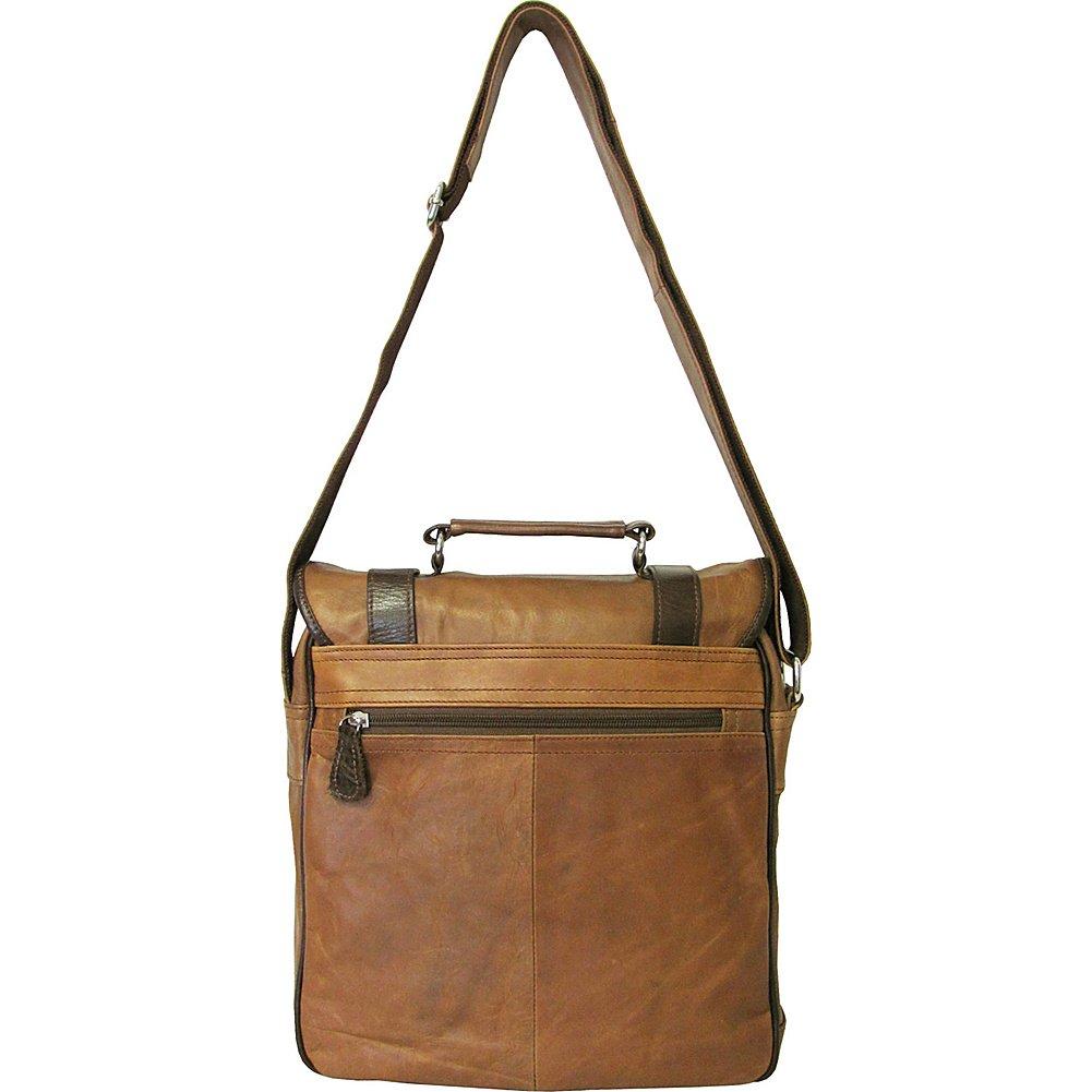 AmeriLeather Granger Two-tone Messenger Bag