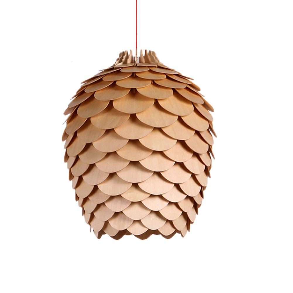 MINGLIANG Europäischen Stil Retro Kronleuchter Pinienkern Holz E27 Lampen Lampen Lampen Decke Pendelleuchte für Wohnzimmer Schlafzimmer Restaurant cb022d