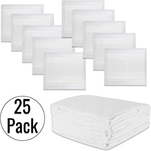 "Houseables Incontinence Bed Pads, Disposable Underpads, 30"" x 36"", 25 Pk, Waterproof, Medical, Large, Extra Absorbent, Quilted, Heavy Duty, Polymer, Breathable Bedding Liners, for Hospital, Adults"