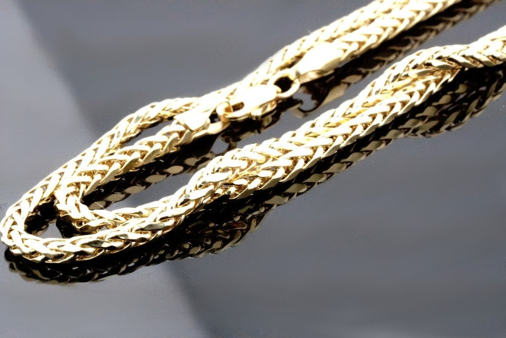 Midwest Jewellery 10K Gold Wheat Chain Palm Chain Necklace Womens or Mens Real Gold 3.5mm (26) by Midwest Jewellery (Image #6)