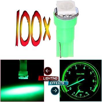 blue cciyu 100x Pink T5 70 74 73 1-5050SMD Instrument Gauge Dash Indicator LED Light Bulbs