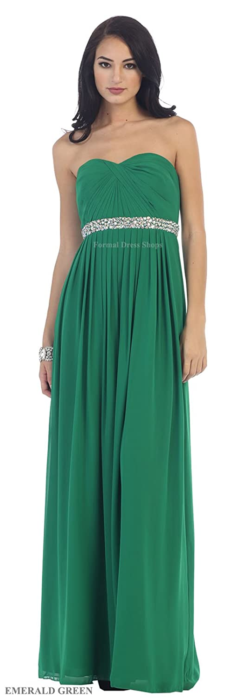 Amazon.com: May Queen MQ1169 Lace up Back Bridesmaids Long Dress ...