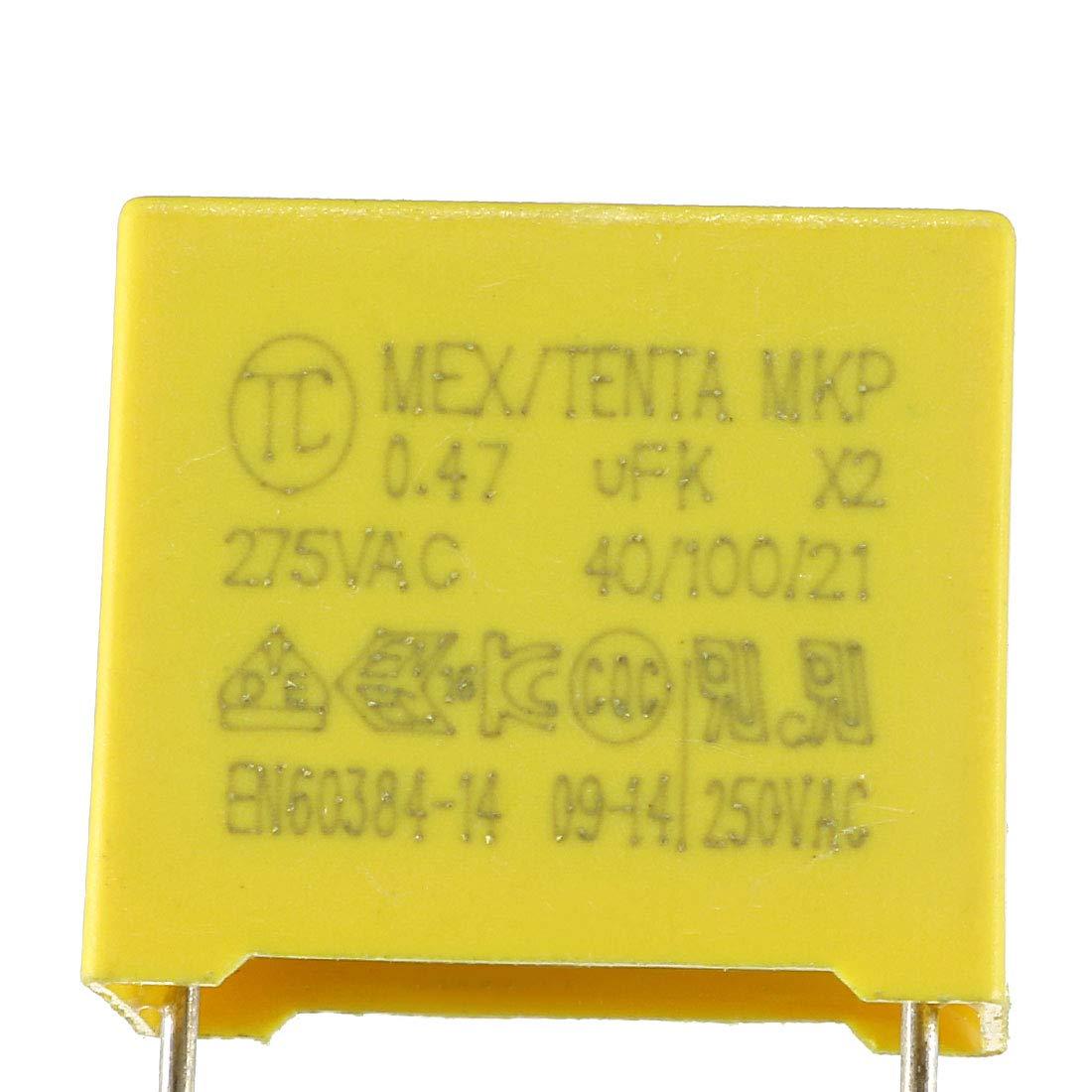 sourcing map Condensador de seguridad de pel/ícula de polipropileno de 0 022uF 275VCA MKP X2