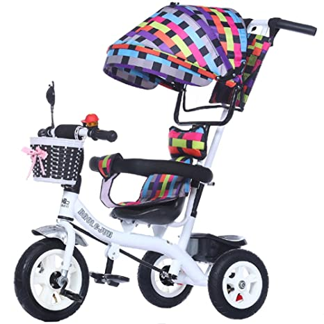 Childrens trolley Multi-función de 3 ruedas para niños, bicicleta, carrito de bebé