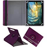 Fastway Rotating Leather Flip Case for Huawei MediaPad T5 Tablet (10.1 inch, 16GB, Wi-Fi + 4G LTE) Tablet Cover Stand (Purple)