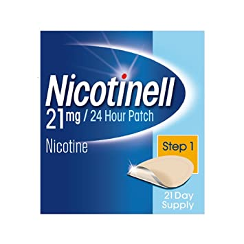 Nicotinell Stop Smoking Aid 24 hour 21 days Nicotine Patches 21 mg - Step 3  (